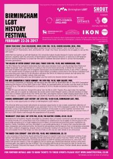 Birmingham LGBT History Festival Programme © Adam Carver